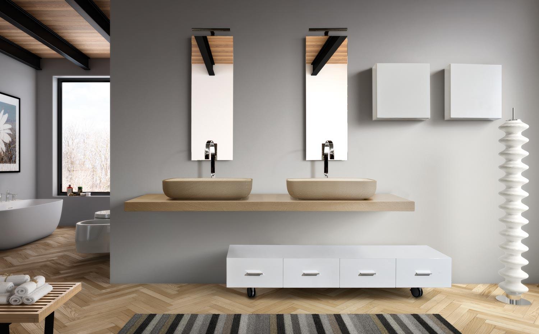 Lasa idea spa arredobagno made in italy siena for Mobiletti bassi bagno