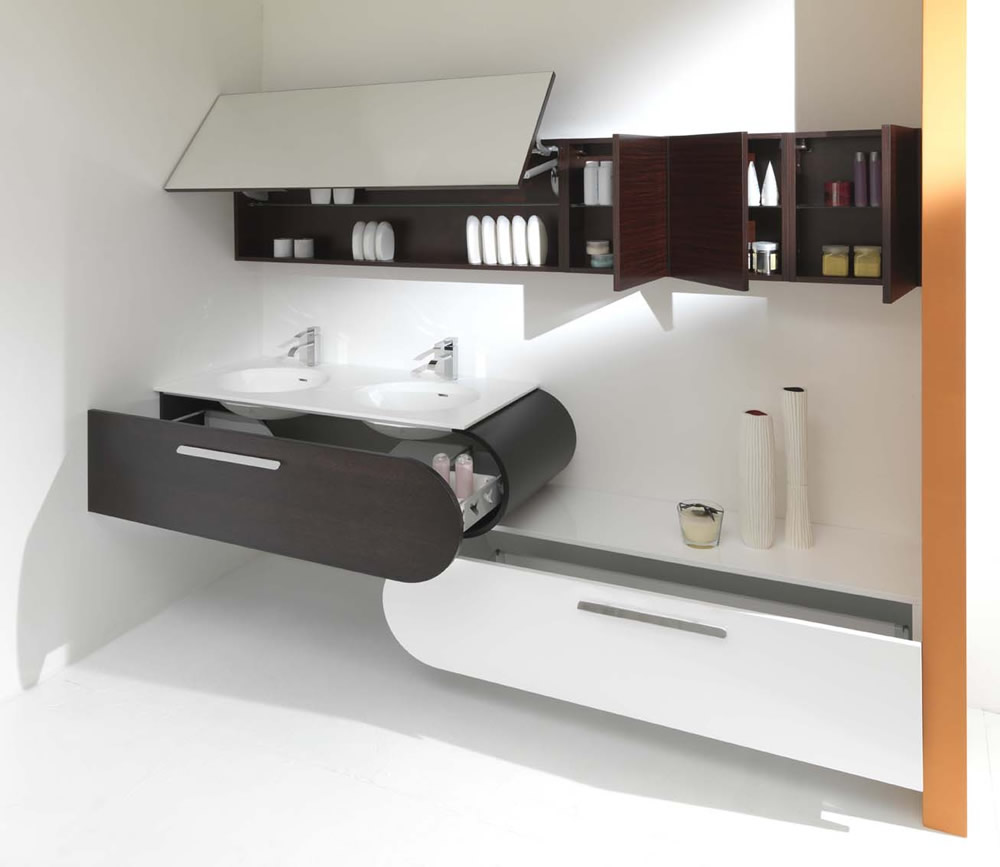 Lasa idea spa bathroom furniture and accessories made in - Meuble vasque salle de bain design ...
